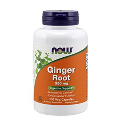 Корень имбиря NOW Foods Ginger Root 550mg 100 caps