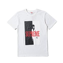 Футболка Supreme Scarface белая (с принтом Тони Монтаны суприм мужская женская)