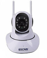 Поворотная IP камера ESCAM G02 (720p) с двойной антенной Wi-Fi