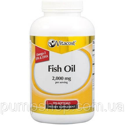 Омега-3 Vitacost Fish Oil 2000 mg - 300 капс., фото 2