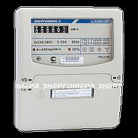 Электросчётчик трехфазный цэ 6803в 1 220в 5-60а м7р32, на один тариф, установка на щиток/din-рейку, энергомера