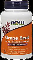 Повышение иммунитета, здоровье сосудов NOW Foods Grape Seed 180 caps