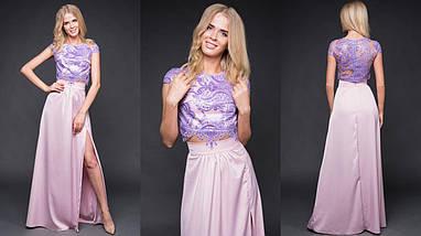 """Нарядный женский костюм-двойка """"MIELITA"""" с кружевным топом (6 цветов), фото 2"""