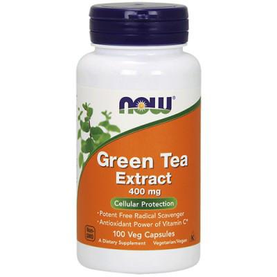 Вітаміни NOW Foods Green Tea Extract 400mg caps 100