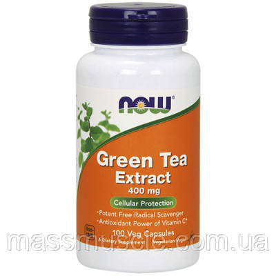 Витамины NOW Foods Green Tea Extract 400mg 100 caps