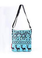 Дутая сумка планшет Скандинавия голубая Рoolparty 166-1653480