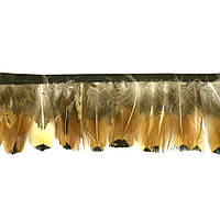 Перья декоративные фазана N9 Натуральные на ленте 6 см/50 см, фото 1