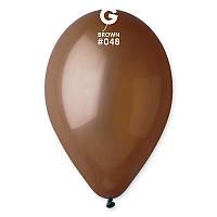 """Воздушные шары 10""""(25 см) 48 Коричневый пастель В упак: 100шт. ТМ """"Gemar"""" Италия"""