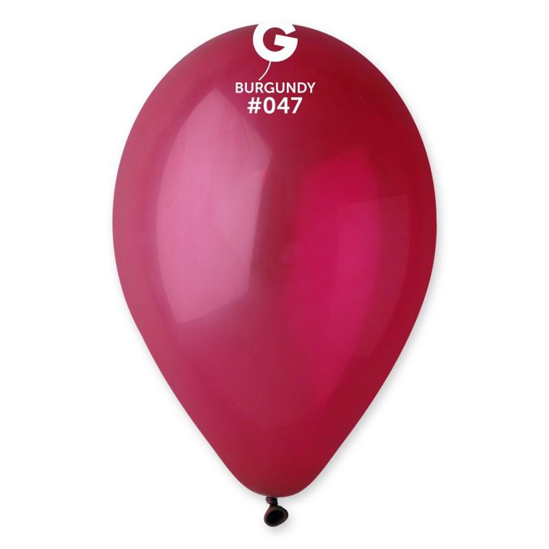 """Воздушные шары 10""""(25 см) 47 Бургундия пастель В упак: 100шт. ТМ """"Gemar"""" Италия"""