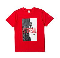 Футболка Supreme Scarface красная Реплика 1:1