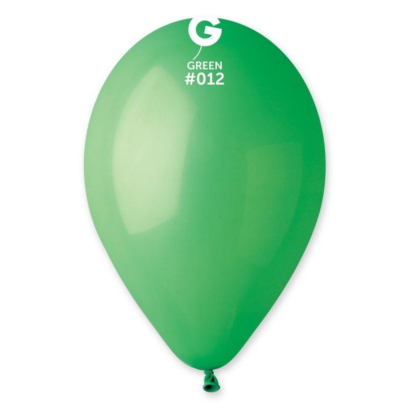 """Повітряні кулі 10""""(25 см) 12 Зелений пастель В упак: 100шт. ТМ """"Gemar"""" Італія"""