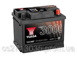 Автомобильный аккумулятор Yuasa YBX 3027 60Ач 550А (0) R