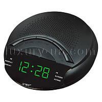 Часы сетевые 903-4 салатовые, радио FM