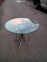 Стол со стеклянной столешницей. Д-900.