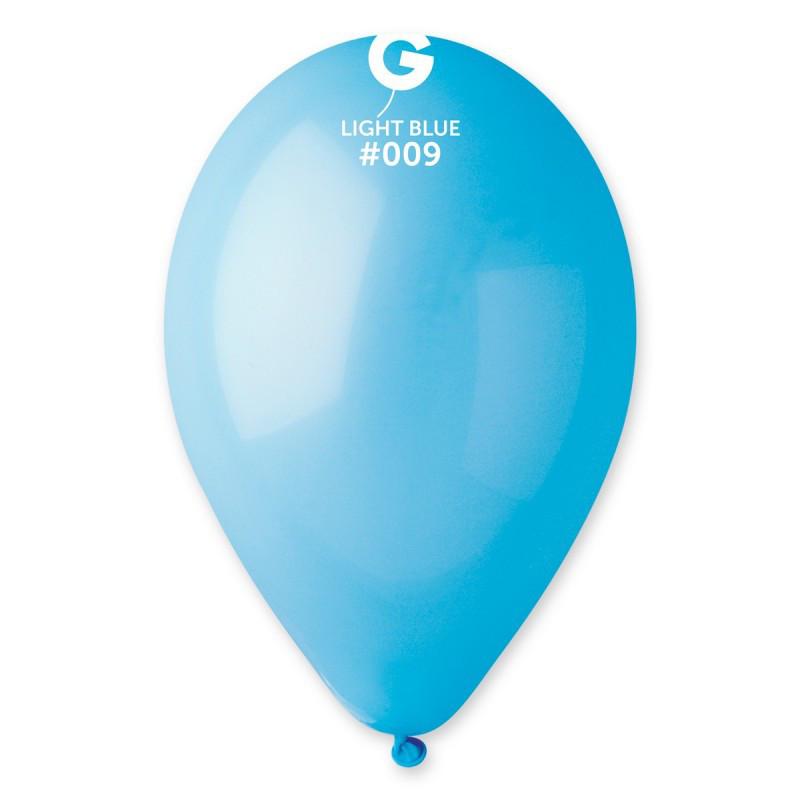 """Воздушные шары 10""""(25 см) 09 Голубой пастель В упак: 100шт. ТМ """"Gemar"""" Италия"""