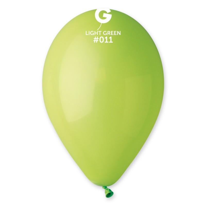 """Воздушные шары 10""""(25 см) 11 Салатовый пастель В упак: 100шт. ТМ """"Gemar"""" Италия"""