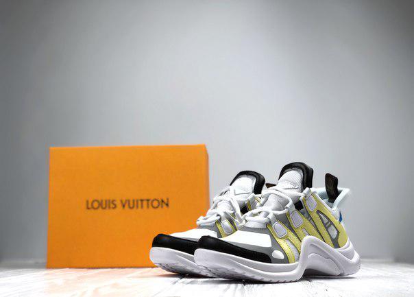 Женские кроссовки Louis Vuitton (белые), ТОП-реплика