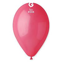 """Воздушные шары 10""""(25 см) 05 Красный пастель В упак: 100шт. ТМ """"Gemar"""" Италия"""