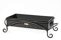 Мангал кованный стальной (4мм) со съемным коробом М15-4