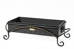 Мангал кованный стальной (2мм) со съемным коробом М15-2