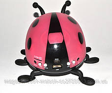 Портативная MP3 колонка Танцующий жук SK-15 (божья коровка)!Лучший подарок, фото 3
