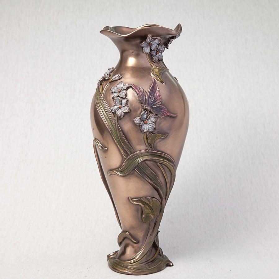 Ваза Бабочка в фиалках Veronese Италия (34 см) 10407 A4