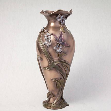 Ваза Бабочка в фиалках Veronese Италия (34 см) 10407 A4, фото 2