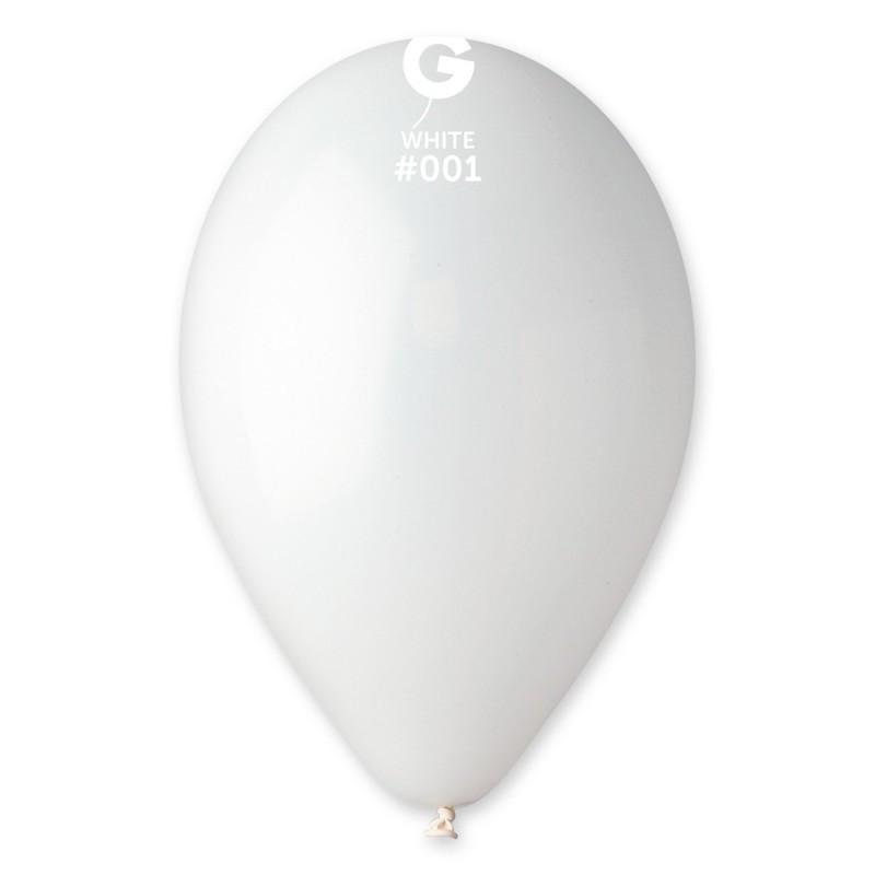 """Воздушные шары 10""""(25 см) 01 Белый пастель В упак: 100шт. ТМ """"Gemar"""" Италия"""