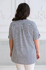 Белая рубашка в клетку для полных Армина, фото 3