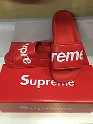 Женские шлепанцы Supreme Red