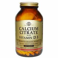Солгар, Цитрат кальция с витамином D3, 240 таблеток Solgar Calcium Citrate vitamin D3