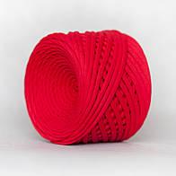 Трикотажная пряжа (5-7 мм) цвет Красный мак