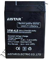 Аккумулятор 6v 4.5Аh Aistar