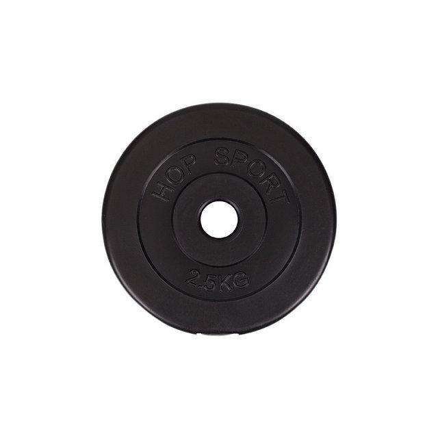 Диск (блин) для гантелей и штанги, вес 2,5 кг, битумный, d-30мм