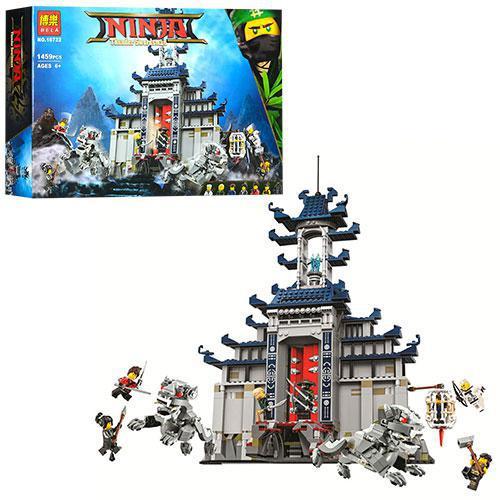 Конструктор Ninja строение, дракон, фигурки, 1459 деталей в коробке