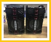 """Акустическая система WIMPEX WX 7314-12 12""""X2 Дистанционный пульт, микрофон Bluetooth!Акция"""