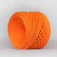 Трикотажная пряжа (5-7 мм) цвет Оранжевый апельсин