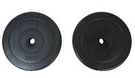 Диски (блины) для гантелей и штанги, 2 по 10 кг, битумные, d-30мм