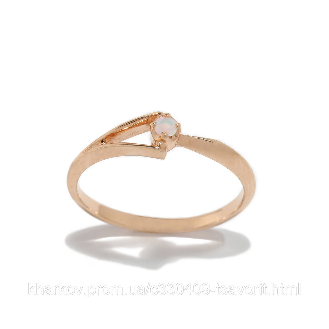 Золотое кольцо с опалом 2280101