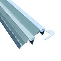 Профиль для светодиодной ленты YF119 (2м) с рассеивателем, анодированный, для ступенек