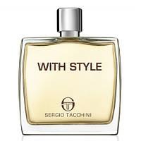 Sergio Tacchini With Style - Sergio Tacchini мужские духи Серджио Тачини Виз Стайл Туалетная вода, Объем: 100мл ТЕСТЕР (без крышечки)