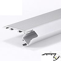 Профиль для светодиодной ленты YF119-1 (2м) с рассеивателем, анодированный, для ступенек