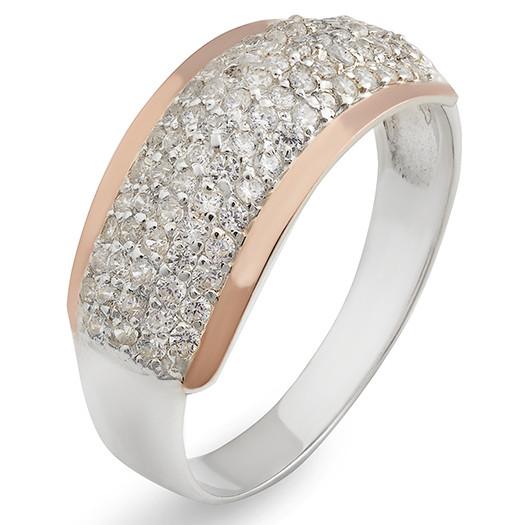 2888eb8665bb Серебряное кольцо 925 пробы с фианитами (94к)  продажа, цена в Белой ...
