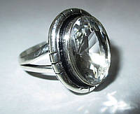 """Элегантное колечко с горным хрусталем, """"Лед"""", размер 19 от студии  LadyStyle.Biz, фото 1"""