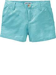 Льняные голубые шорты с перламутровым напылением (Размер 5Т) Old Navy (США)