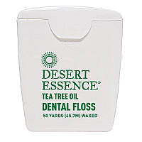 Зубная нить с маслом чайного дерева, 45,7 м с восковым покрытием, , Desert Essence