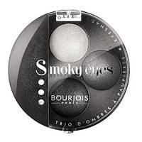 Bourjois Smoky Eyes - Буржуа тени-трио компактные Вес: 4.5гр., Цвет: 03 Коричнево-золотой