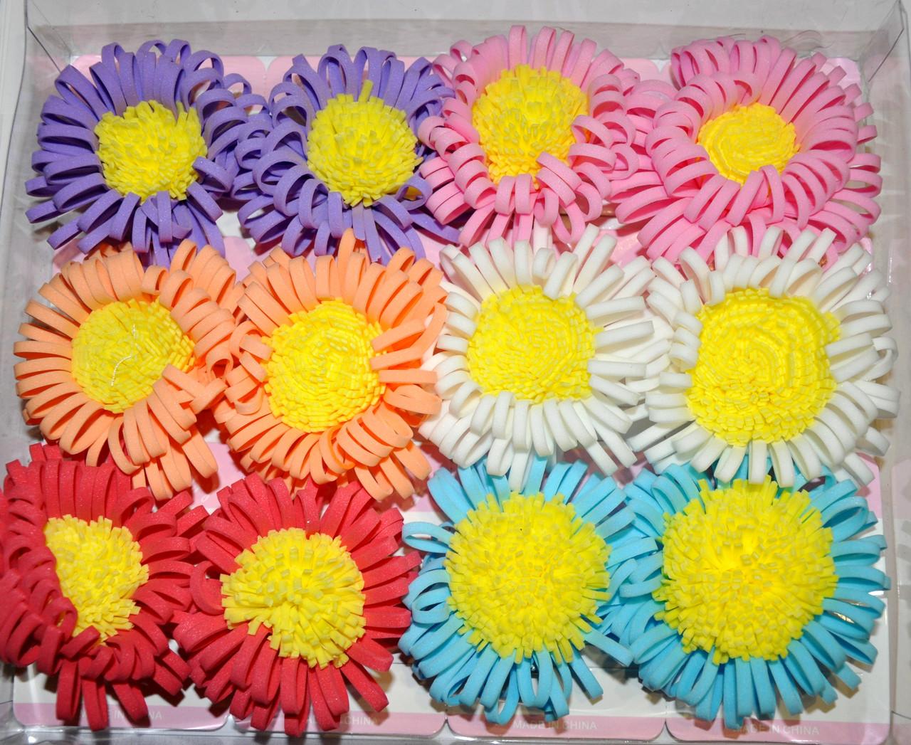 Дитячі квіточки для волосся на качечку (12 шт)