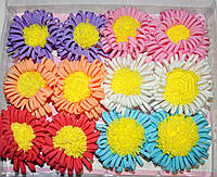 Детские цветочки для волос на уточке (12 шт)