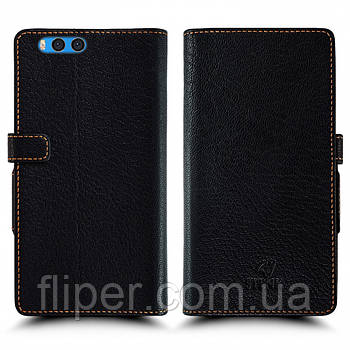 Чехол книжка Stenk Wallet для Xiaomi Mi Note 3 Чёрный